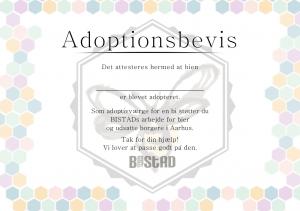 Bistad adoptionsbevis